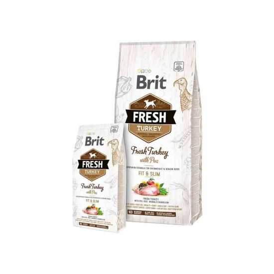 Brit Fresh Turkey with Pea Light Fit&Slim 2.5kg, 12kg su kalakutiena