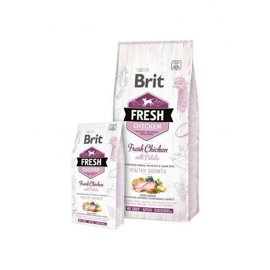 Brit Fresh Chicken with Potato Puppy  2.5kg, 12kg su vištiena