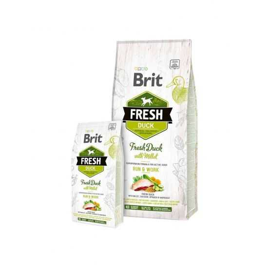 Brit Fresh Duck with Millet Active Run&Work  2.5kg, 12kg su antiena