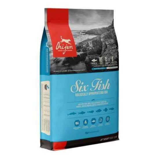 Orijen Six Fish Dog begrūdis sausas maistas šunims su žuvimi 2kg, 11.4kg
