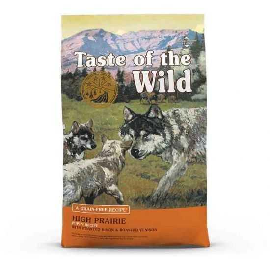 Taste Of The Wild High Prairie Puppy begrūdis sausas maistas jauniems šunims su bizoniena 2kg, 13kg