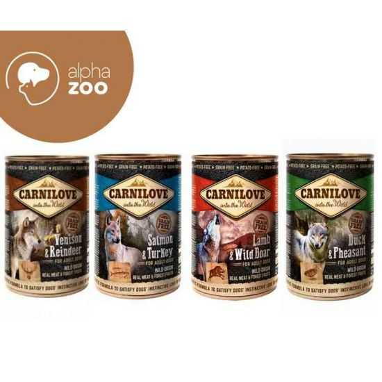 Carni Love konservai šunims rinkinys 4 skoniai, viso 12vnt 4.8kg