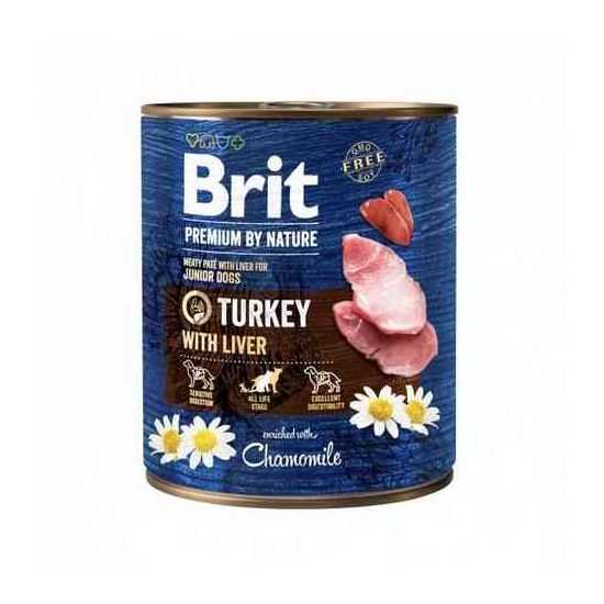 Brit Premium by Nature mėsos paštetas su kalakutiena ir kepenimis šunims 800gr