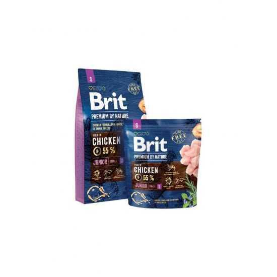 Brit Premium Junior S sausas maistas jauniems mažų veislių šunims 8 Kg