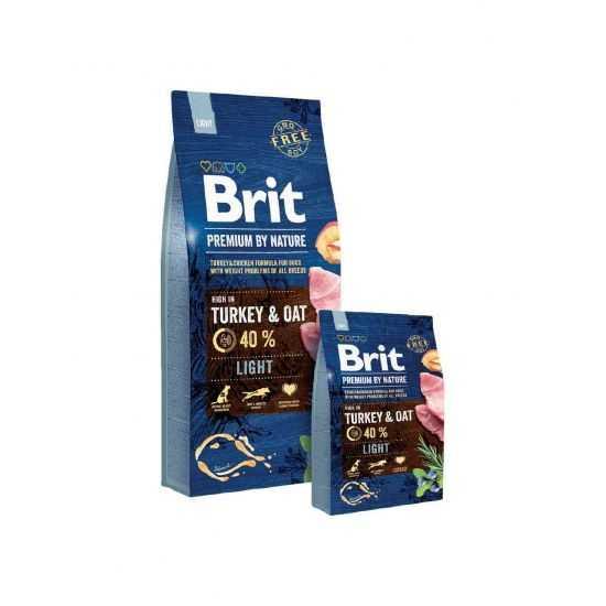 Brit Premium Light sausas maistas šunims su kalakutiena 15kg