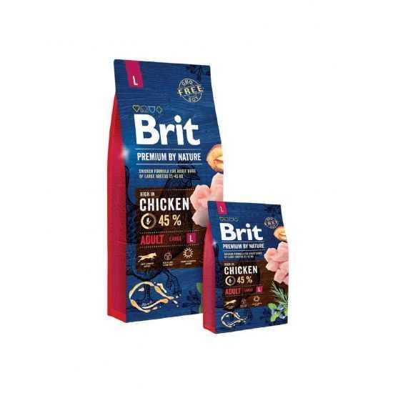 Brit Premium Adult L sausas maistas šunims 15kg