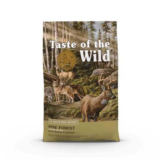 TASTE OF THE WILD PINE FOREST BEGRŪDIS SAUSAS MAISTAS SU ELNIENA