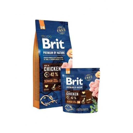 Brit Premium Senior S+M sausas maistas vyresniems šunims 15kg