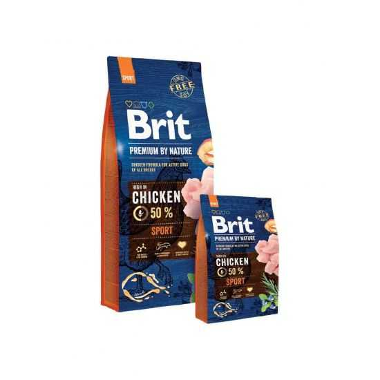 Brit Premium Sport sausas maistas aktyviems šunims 15kg