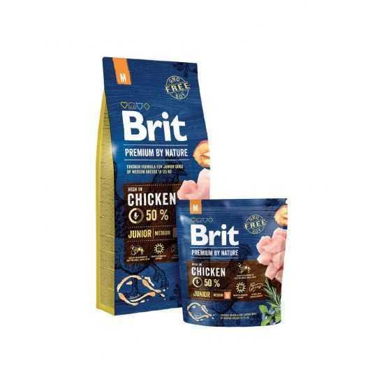Brit Premium Junior M sausas maistas jauniems šunims 15kg