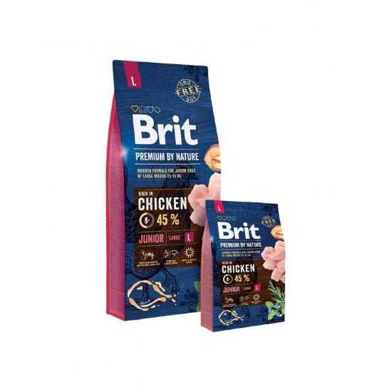 Brit Premium Junior L sausas maistas jauniems šunims 15kg