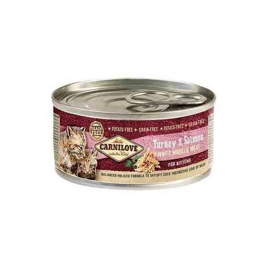 Carni Love Turkey&Salmon konservai mažiems kačiukams su kalakutiena ir lašiša