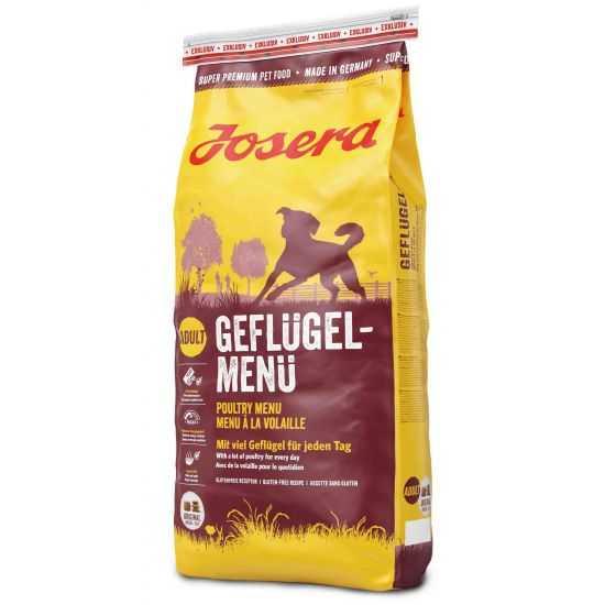 Josera Poultry-Menu sausas maistas šunims su paukštiena 15kg