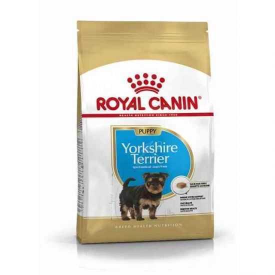 Royal Canin Yorkshire Terrier Junior sausas maistas jauniems jorkšyro terjero veislės šunims 0,5kg 1,5kg 7,5kg