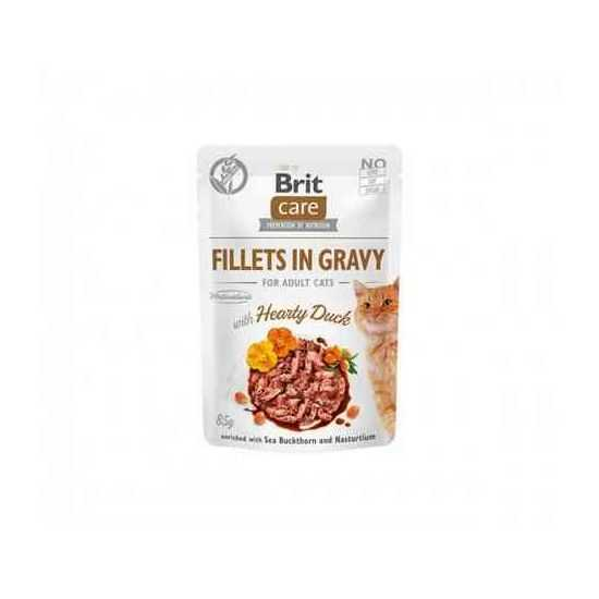 Brit Care Cat konservai katėms Fillets in Gravy Hearty Duck su antiena 85 g