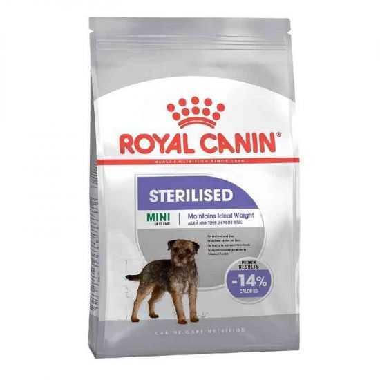 Šunų maistas Royal Canin Mini Sterilised Adult kastruotiems/sterilizuotiems šunims 1kg.