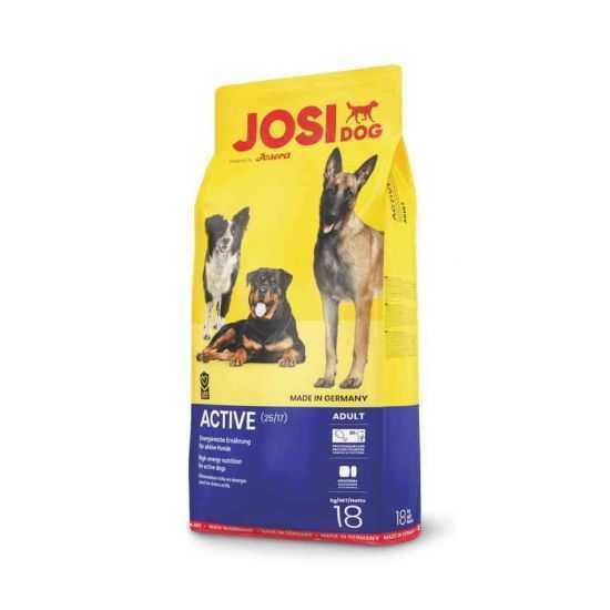 Josera Josidog Active sausas maistas šunims su paukštiena 18kg
