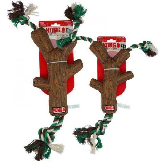 Kong FetchStix w/Rope žaislas - natūralus kramtalas šunims 43cm M dydis