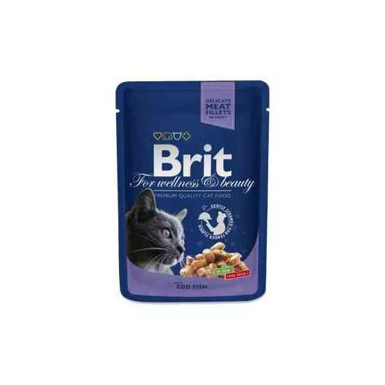 Brit Premium Cod Fish konservai katėms su menke