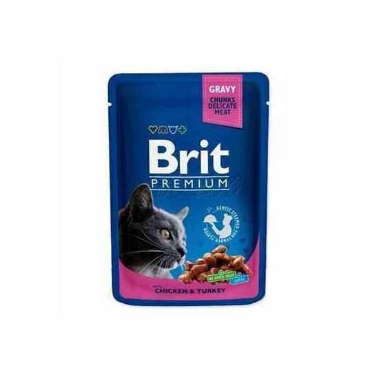 Brit Premium Chicken & Turkey konservai katėms su vištiena ir kalakutiena