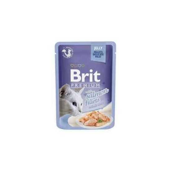 Brit Premium Delicate Salmon in Jelly konservai katėms lašišos filėdrebučiuose