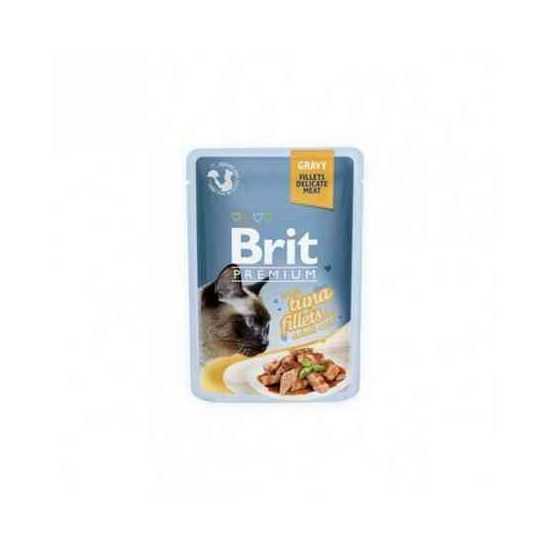 Brit Premium Delicate Tuna in Gravy konservai katėms tuno filė padaže