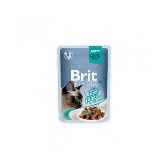 Brit Premium Delicate Beef in Gravy konservai katėms jautienos filė padaže
