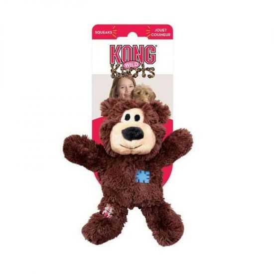 KONG knots bear žaislas šunims su virve viduje įv. dydžių