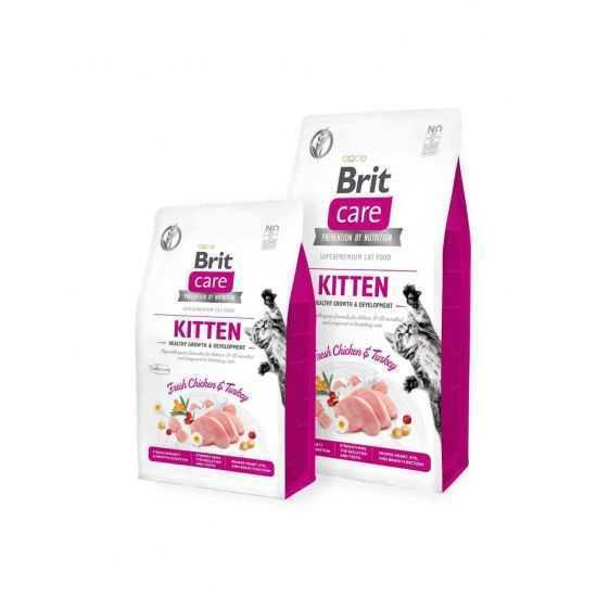 Brit Care Kitten sausas maistas kačiukams 2kg 7kg