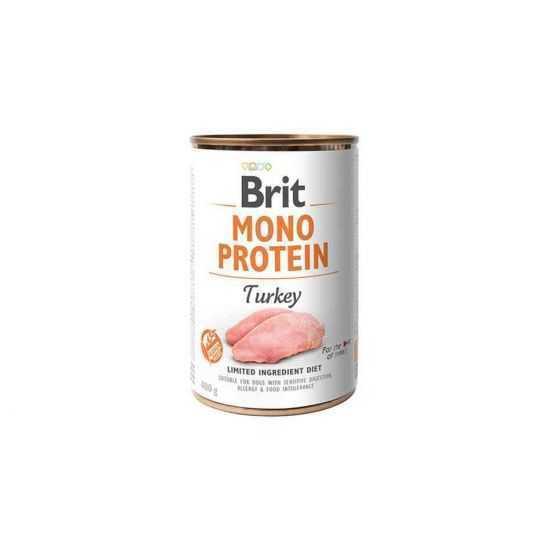 Brit care Mono Protein Turkey konservai šunims su kalakutiena 400gr