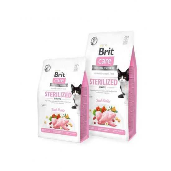Brit Care Sterilized Sensitive begrūdis sausas maistas sterilizuotoms katėms