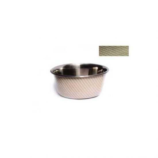 Neslystantis metalinis dubenėlis įv. dydžių smėlio spalvos