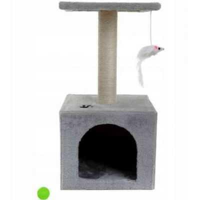 Kačių draskyklė su nameliu 60cm