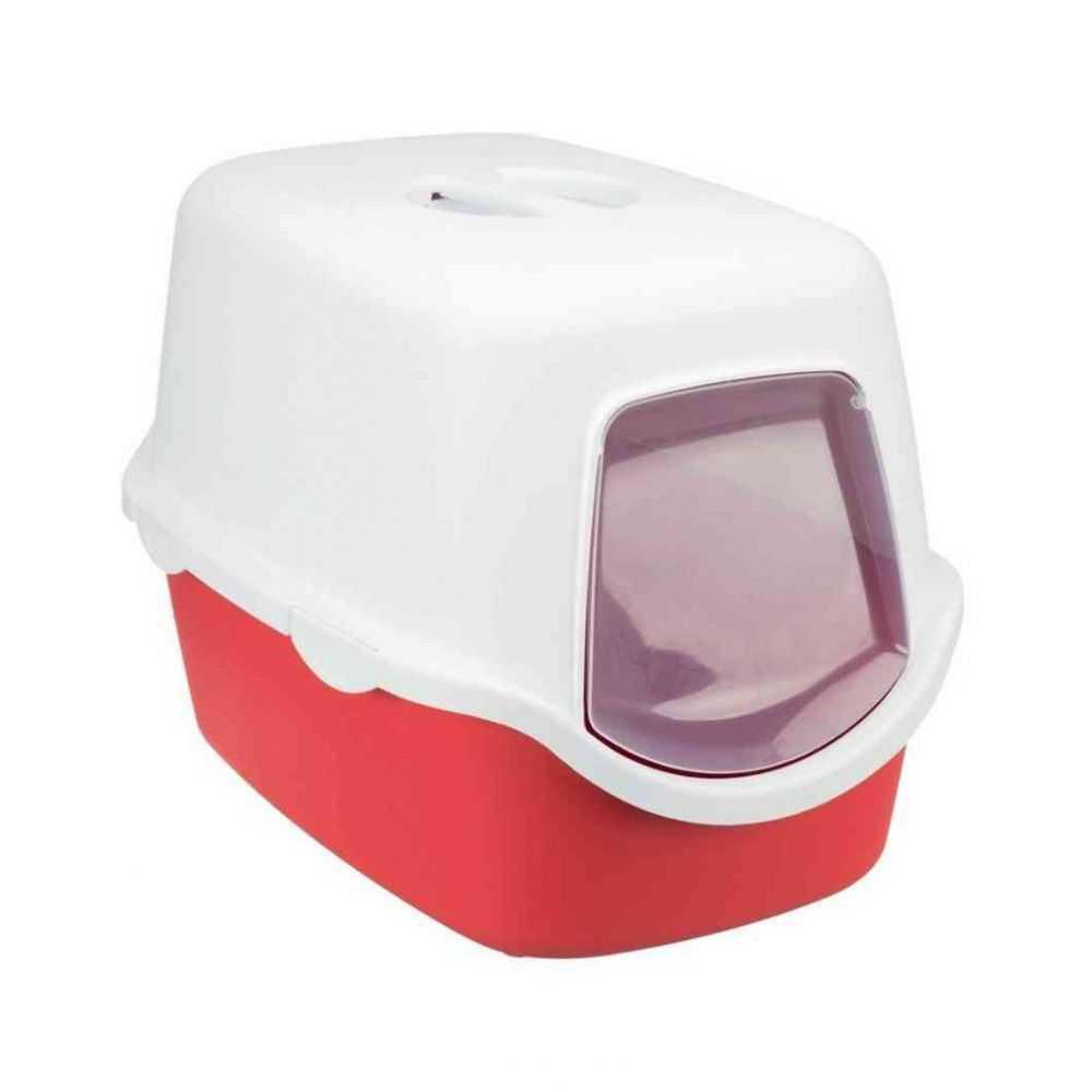 TRIXIE Vico tualetas-namas su durelėmis su filtru 40 × 40 × 56 cm raudonas