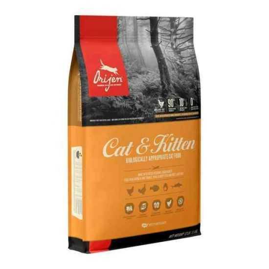 Orijen Cat & Kitten sausas maistas katėms 1.8kg ir 17kg