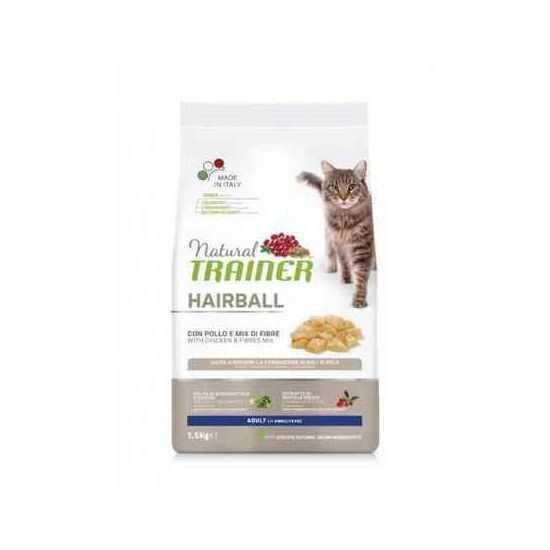Trainer Natural CAT HAIRBALL sausas maistas katėms su vištiena nuo plaukų sąvėlų 1.5kg