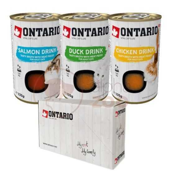 ONTARIO sriubų-gėrimų katėms rinkinys...