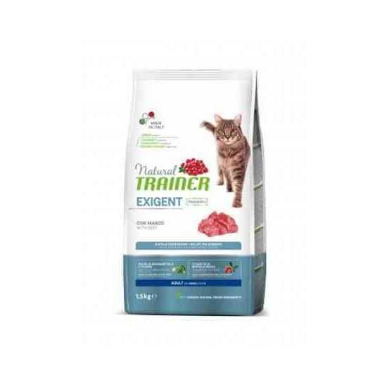 Trainer Natural CAT Exigent sausas maistas išrankioms katėms su jautiena 1.5kg