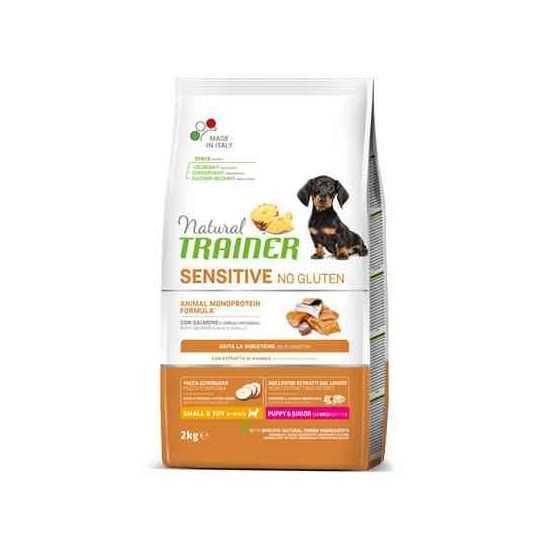 Trainer Sensitive PUPPY Mini No Gluten SALMON jauniems šunims (Lašiša) 2kg