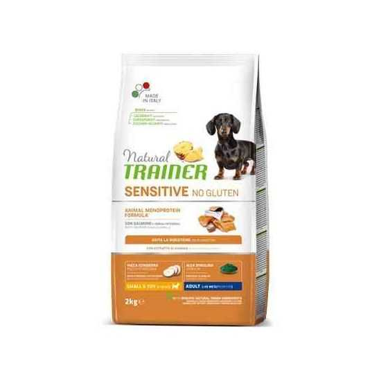 Trainer Sensitive Adult Mini No Gluten SALMON sausas maistas šunims (Lašiša)