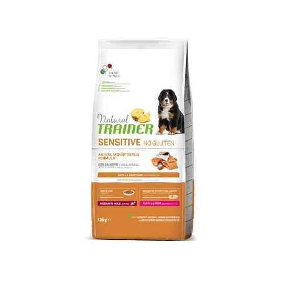 Trainer Sensitive PUPPY M/M No Gluten SALMON sausas maistas jauniems šunims  (Lašiša)