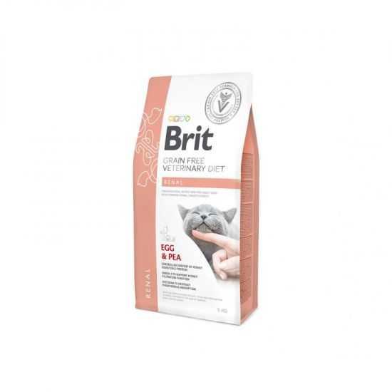 Brit GF Veterinary Diets Cat Renal sausas maistas katėms