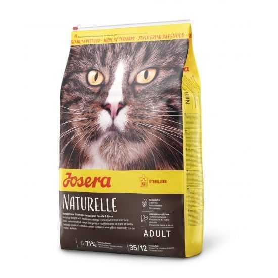 Josera Naturelle begrūdis sausas maistas sterilizuotoms katėms su lęšiais ir upėtakiu 10kg