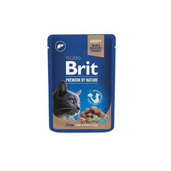 Brit Premium konservai katėms Liver for Sterilised 100g