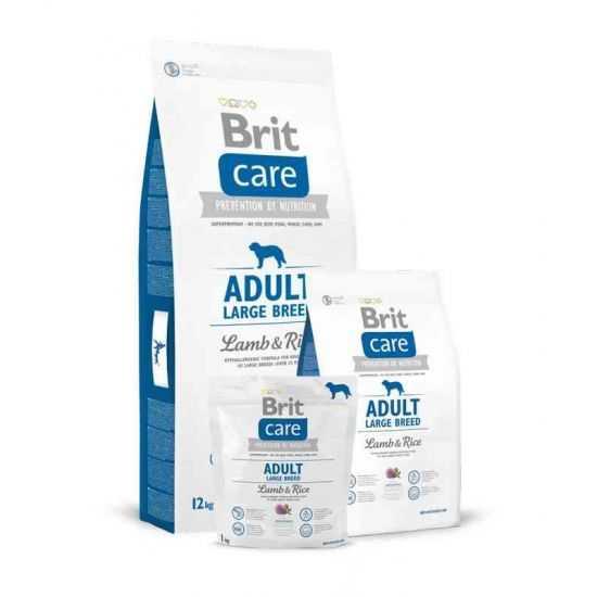 Brit Care Adult Large Breed Lamb & Rice sausas maistas šunims 3kg ir 12kg
