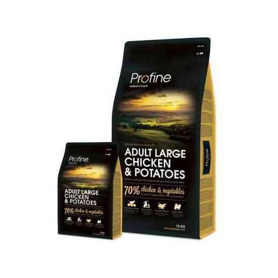 Profine Adult Large Breed Chicken & Potatoes sausas maistas šunims 15kg