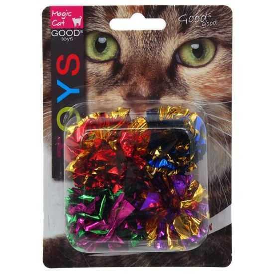 Žaislai katėms - čežantys kamuoliukai