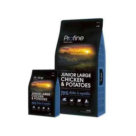 Profine Junior Large Breed Chicken & Potatoes sausas maistas šunims 15kg