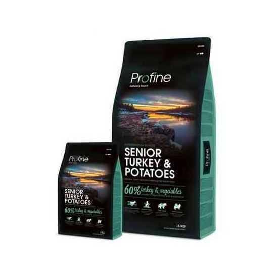 Profine Senior Turkey & Potatoes sausas maistas vyresnio amžiaus šunims 15kg