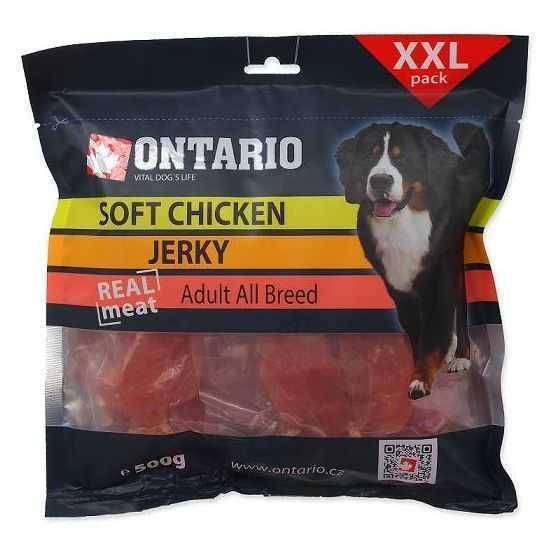 Ontario Chicken Jerky - skanėstai šunims vištienos mėsos gabaliukai 500G